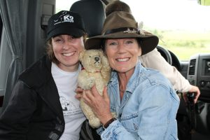 Michelle with K9 Rescue Patron, Lorraine Chase